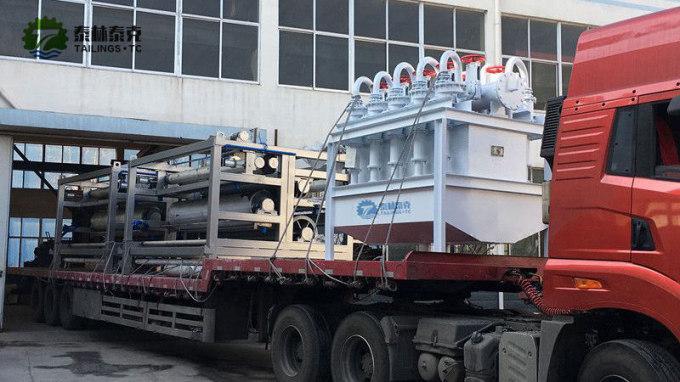 150X10旋流器组和压滤机发货